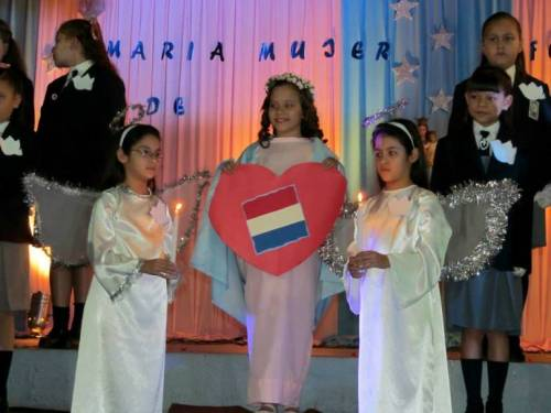 Mary has a place in her heart for the red, white and blue--of Paraguay.