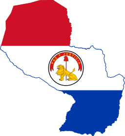 """Flag maps"" of Paraguay downloaded from Wikicommons."
